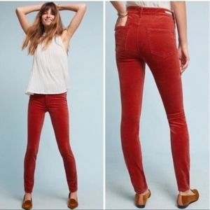 Anthropologie Pilcro Red Rust Corduroy Jeans